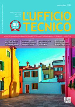 Copertina del numero di settembre 2019 del mensile L'Ufficio Tecnico