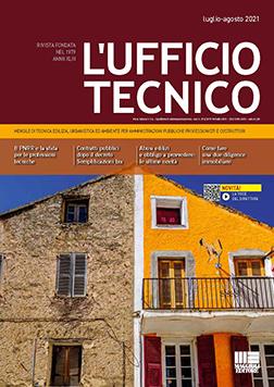 La copertina del numero di luglio e agosto 2021 del mensile L'Ufficio Tecnico